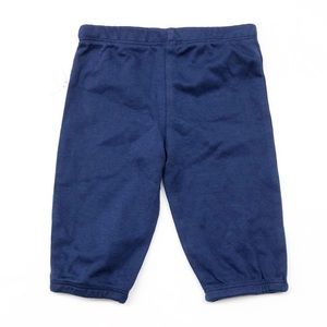 Solid navy blue baby boy pants